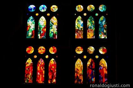 vitrais Sagrada Família - Barcelona